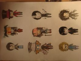 9 characters of Johnny Depp by MicaArt2077