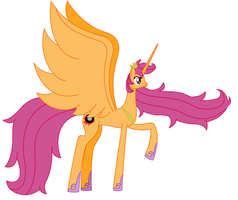 Alicorn Princess Scootaloo by RandomThingsILike