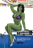 She-Hulk In The Dunk Tank by co4