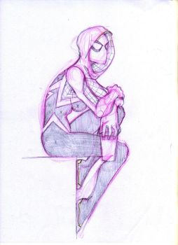 Spider Gwen by Guillomcool by guillomcool