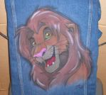 Airbrushed Simba Jean Jacket by whitewolf