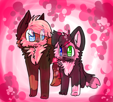 together .:art trade:. by Freckled-Kat