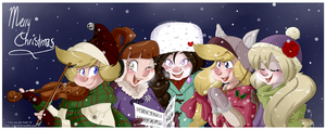 Dwarven Women Christmas Choir by Genolover