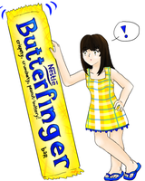 day 10: Favorite Candy by Butterfinger-Sharpie