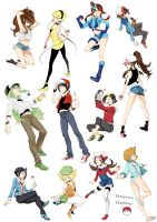 Pokemon trainersss by f-wd