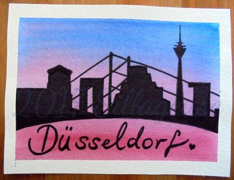 Duesseldorf greeting card by Sillageuse