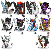 Artsy Icons Batch 1 by Temrin