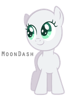 [BASE 1] Happy Filly by MoonDash
