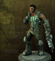 COG Soldier Game Character Complete by joshmalosh
