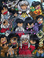 Inuyasha Chibi Invasion by Artyfairy