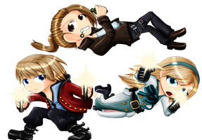 Resonance of Fate Chibis by OceanLeviathan