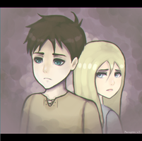[SnK] Eren and Historia by Marzipan-x3