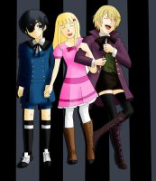 COMMISSION: Ciel, Sophie and Alois. by Chaoz14