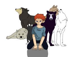 run with the wolves WIP by Bittersweet-Kat