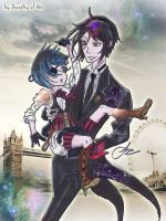 Sebastian and Ciel by Psychedelic-Factory