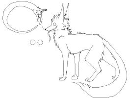 Negative Fox Lineart by dRaWiNgWiThHeArT