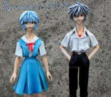 Rei And Kaworu Hope Resin kit by Pyramidcat