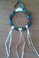 Purple and Teal Dreamcatcher by NecoStudios