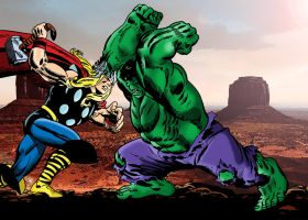 Thor Vs. The Hulk by txboi001