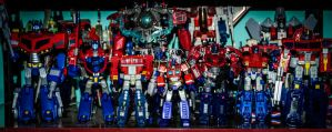 Band of Transformers Optimus Primes by archaznable30
