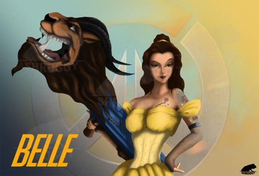 Overwatch: Disney Princess Edition - Belle by Shroggy