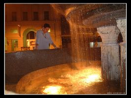 Fountain on Fire by ashrel