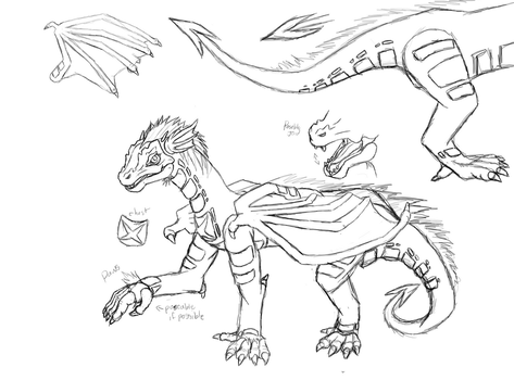 Poseable Dragon art doll Template Commission by DimensionXXIV