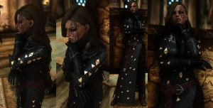 Raven Witch Costume 1 in Skyrim by Zerofrust
