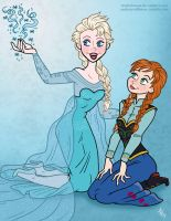 Elsa and Anna by StudioBueno