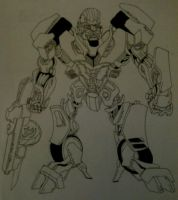 Bluestreak outline by Bennett17
