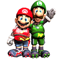 Mario and Luigi Strikers by LeftyGreenMario