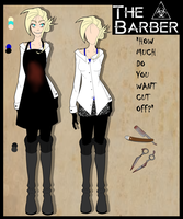 Creepypasta OC: The Barber |Updated ref| by KiNGHeichou