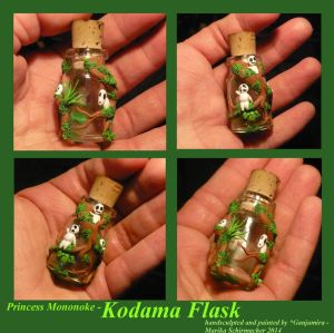 Princess Mononoke - Kodama Flask by Ganjamira