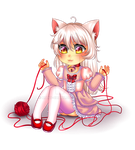 Chibi Commission: Kitten Girl by manu-chann