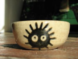 Soot spirit bowl 1 by Potterycat
