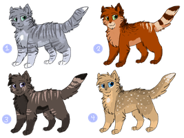 Cat Adoptables 13 - CLOSED by CascadingSerenity