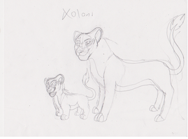 Xolani reference sheet sketch by ZeCrazyAngel