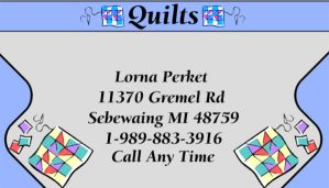 Quilts Business Card by Zarduck