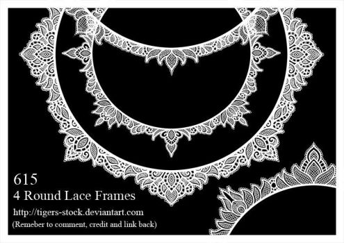 615 Round Lace Frames by Tigers-stock