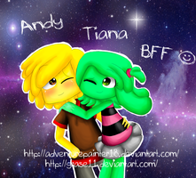 Andy and Tiana by adventurepainter18