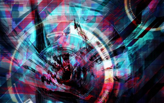 Digital Ripple (Abstract Wallpaper) by The-Blobmonster