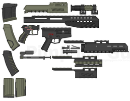 AK and SVD Parts by Lord-Malachi