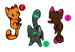 Cat Adoptables #1 [OPEN] by BetaTheGamerGirl