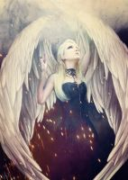 Angelic wings by DJMadameNoir