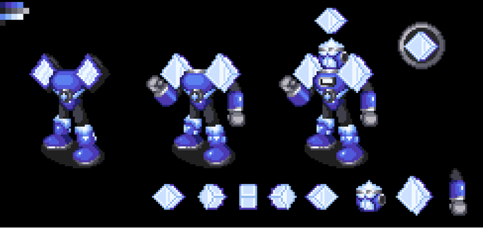YokuMan.EXE (WIP) (Mega Man Unlimited Tribute) by ThatRandomSpriter