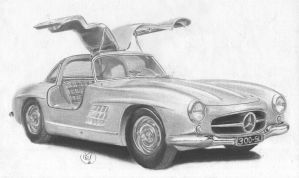 Mercedes Benz 300 SL Gullwing 1954 by m-bilel