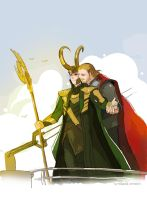 THORandLOKIinTheTitanic by fish-ghost