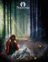 red riding hood and wolf by AleksandarN