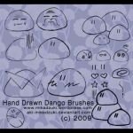 Hand Drawn Dango Brushes by aki-mikadzuki