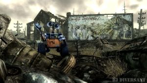 WALL-E in Fallout 3 by DjDiversant